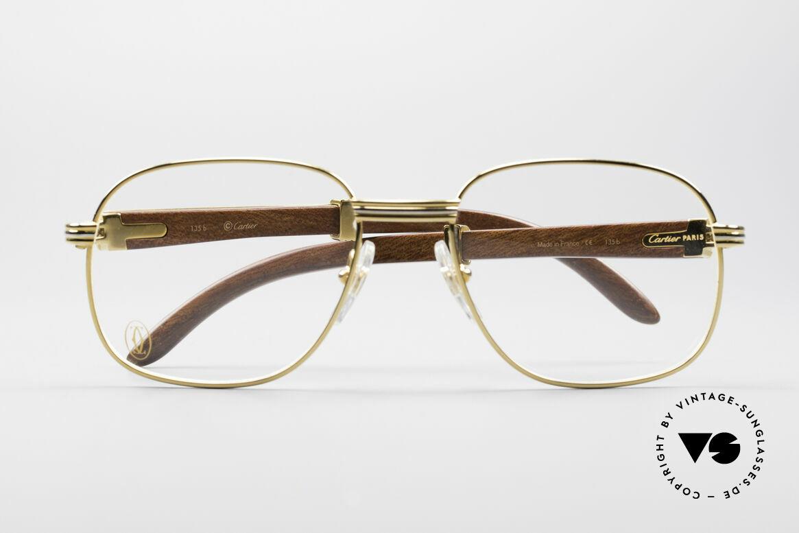Cartier Monceau 90er Bubinga Edelholzbrille
