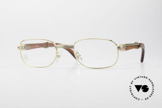 Cartier Breteuil Rare Luxury Wood Eyeglasses Details