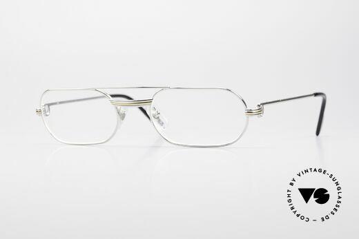 Cartier MUST LC Luxus Platin Brillenfassung Details