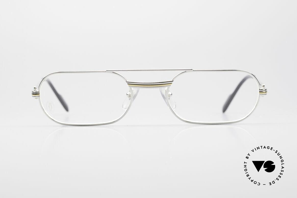 Cartier MUST LC Luxus Platin Brillenfassung, MUST: das erste Modell der Lunettes Collection '83, Passend für Herren