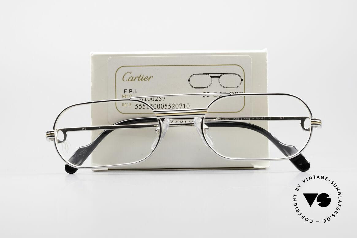Cartier MUST LC Luxus Platin Brillenfassung