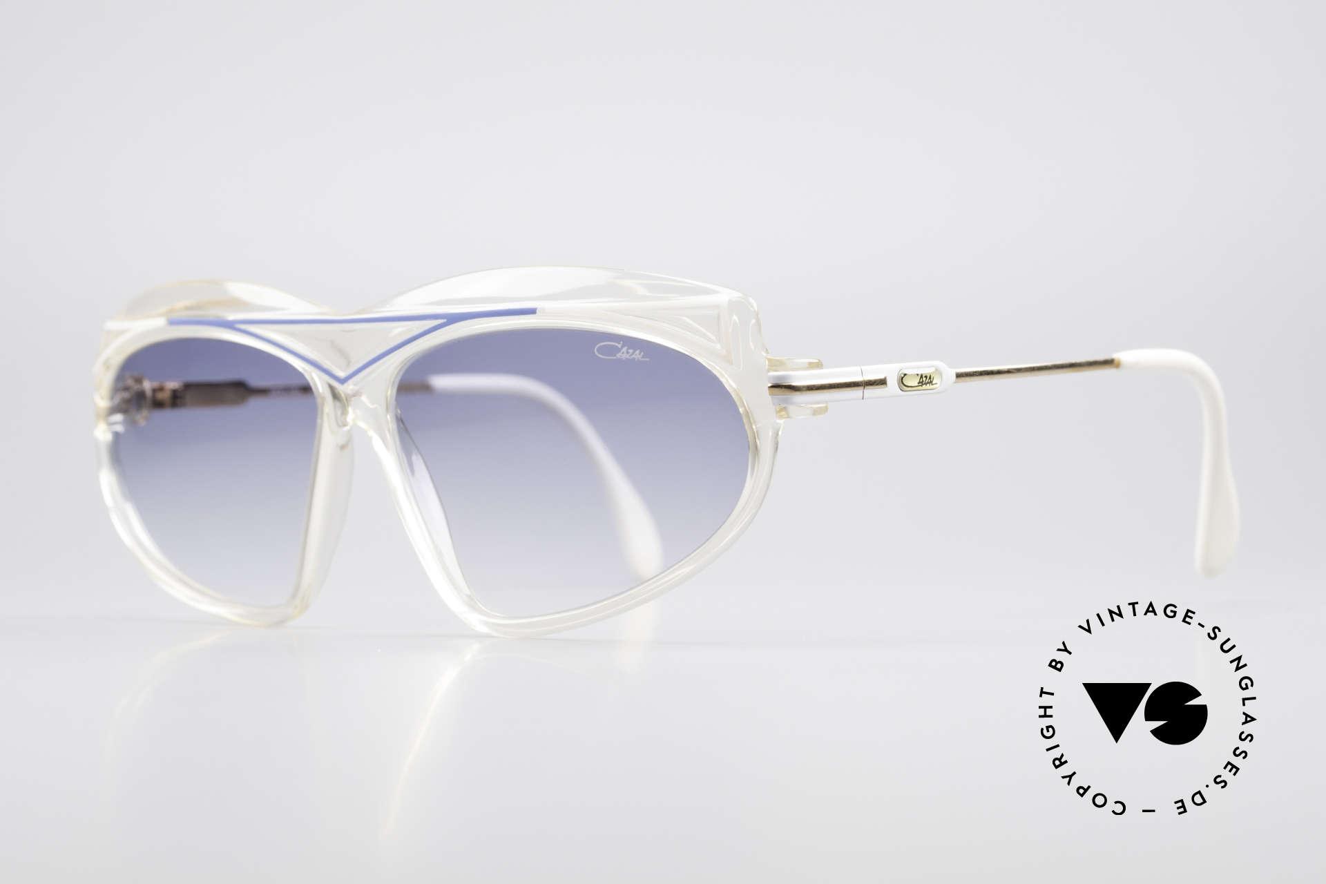 Cazal 854 80er Jahre Hip Hop XL Brille, unverwechselbares Designerstück von CAri ZALloni, Passend für Damen