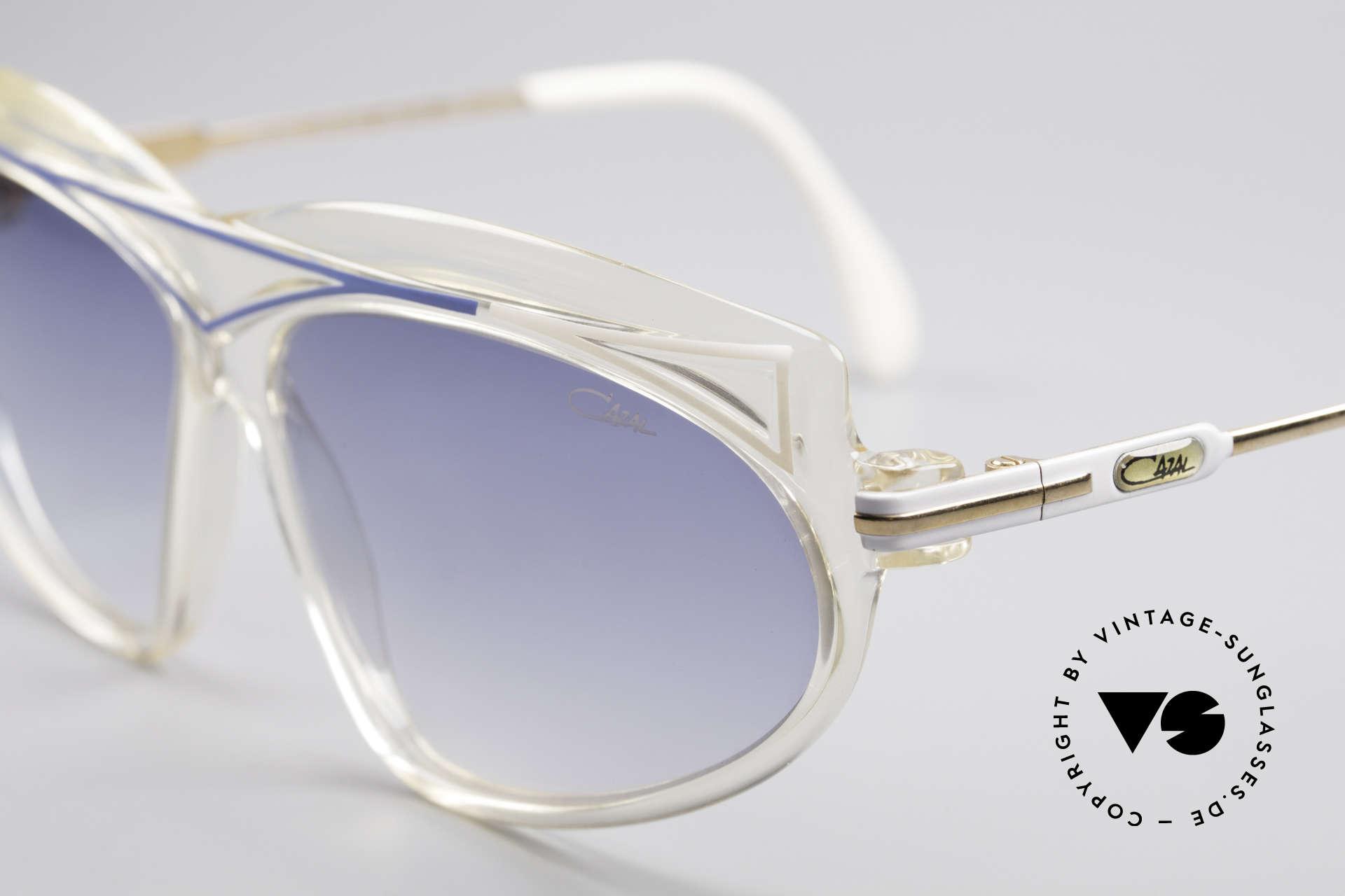 Cazal 854 80er Jahre Hip Hop XL Brille, Farbe und Form typisch 80er = ein echter Hingucker, Passend für Damen