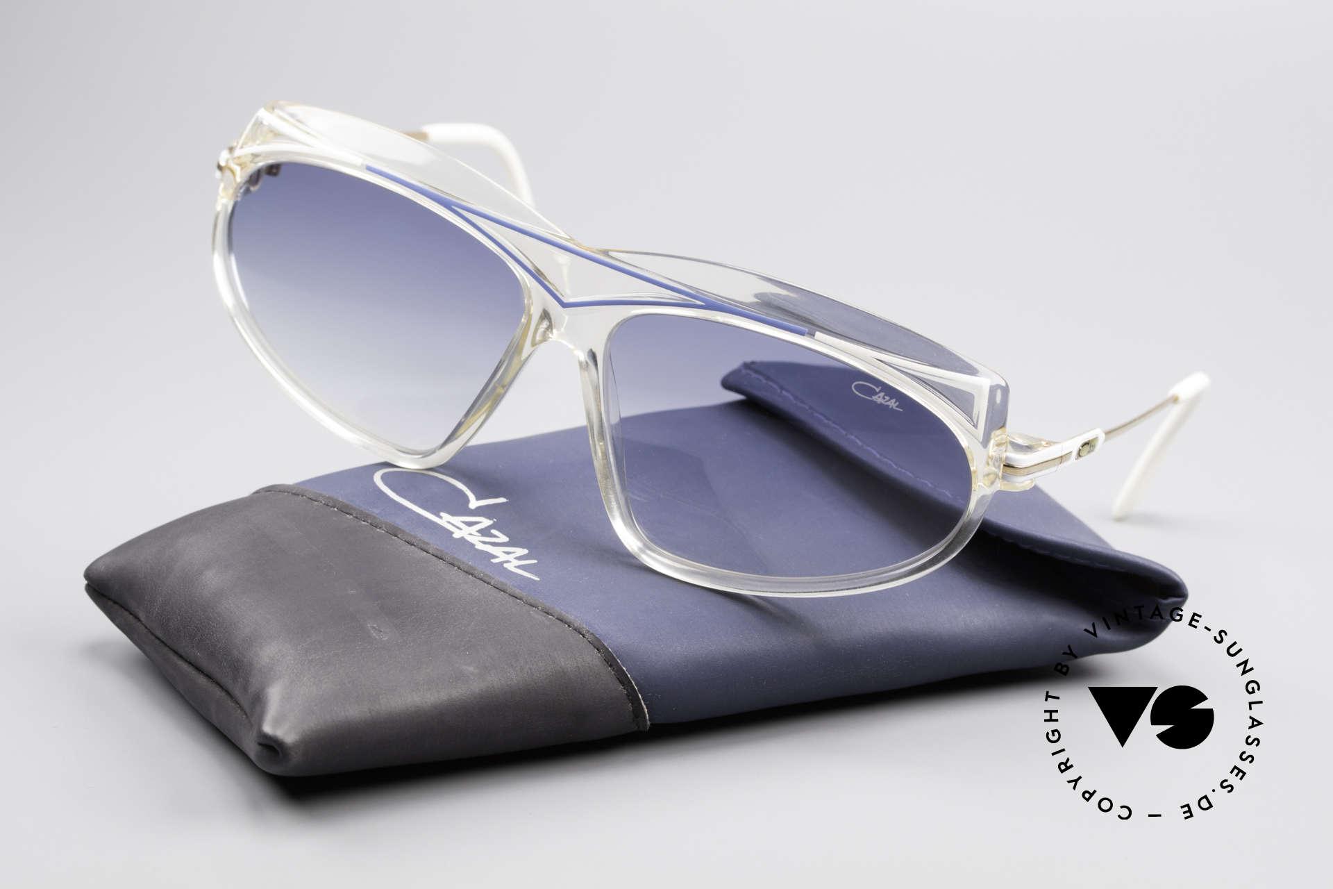 Cazal 854 80er Jahre Hip Hop XL Brille, KEINE Retro Sonnenbrille; ein 80er Cazal Original!, Passend für Damen