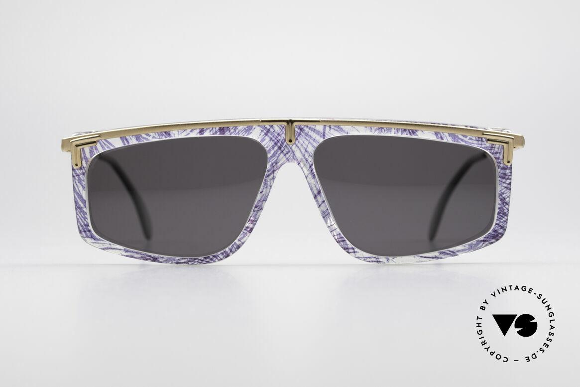 Cazal 190 Old School Hip Hop Brille, ungewöhnliche Rahmengestaltung von CAri ZALloni, Passend für Herren und Damen