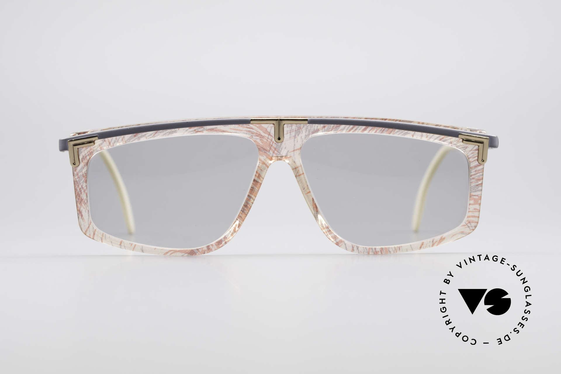 Cazal 190 80er Hip Hop Sonnenbrille, ungewöhnliche Rahmengestaltung von CAri ZALloni, Passend für Herren und Damen