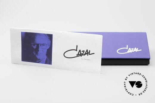 Cazal 190 80er Hip Hop Sonnenbrille, Fassung (in L Gr. 59/13) kann beliebig verglast werden, Passend für Herren und Damen