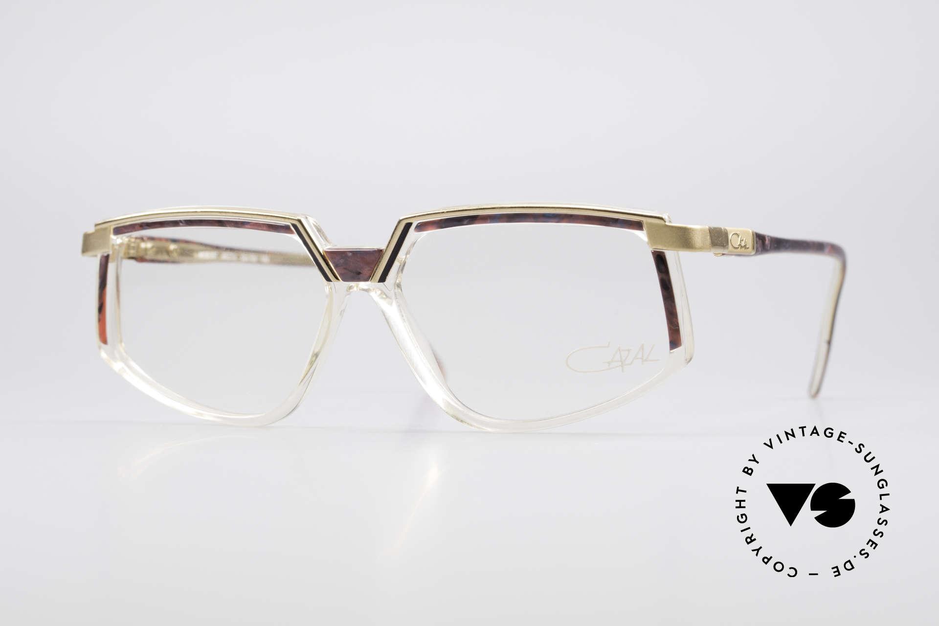 Cazal 337 Vintage Cazal No Retro Brille, sehr interessantes CAZAL Design aus den 90er Jahren, Passend für Damen