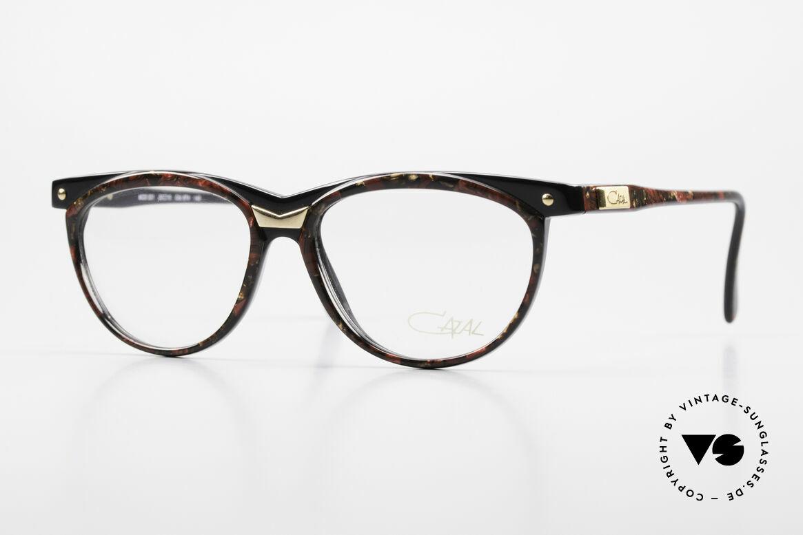 Cazal 331 True Vintage Designer Brille, vintage Cazal Designerbrille der späten 80er Jahre, Passend für Herren und Damen