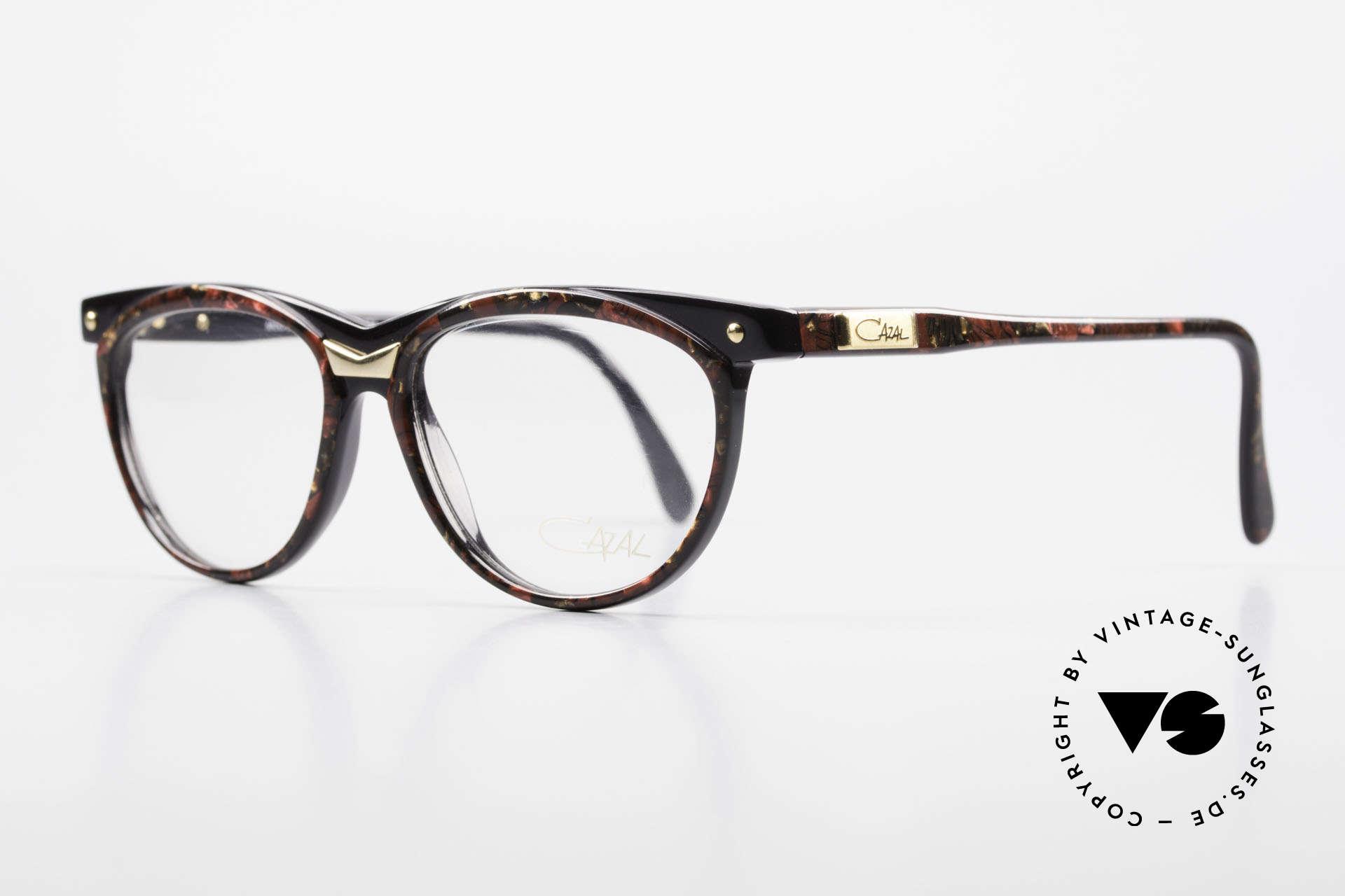 Cazal 331 True Vintage Designer Brille, einzigartige Form- und Farbgestaltung (gemustert), Passend für Herren und Damen