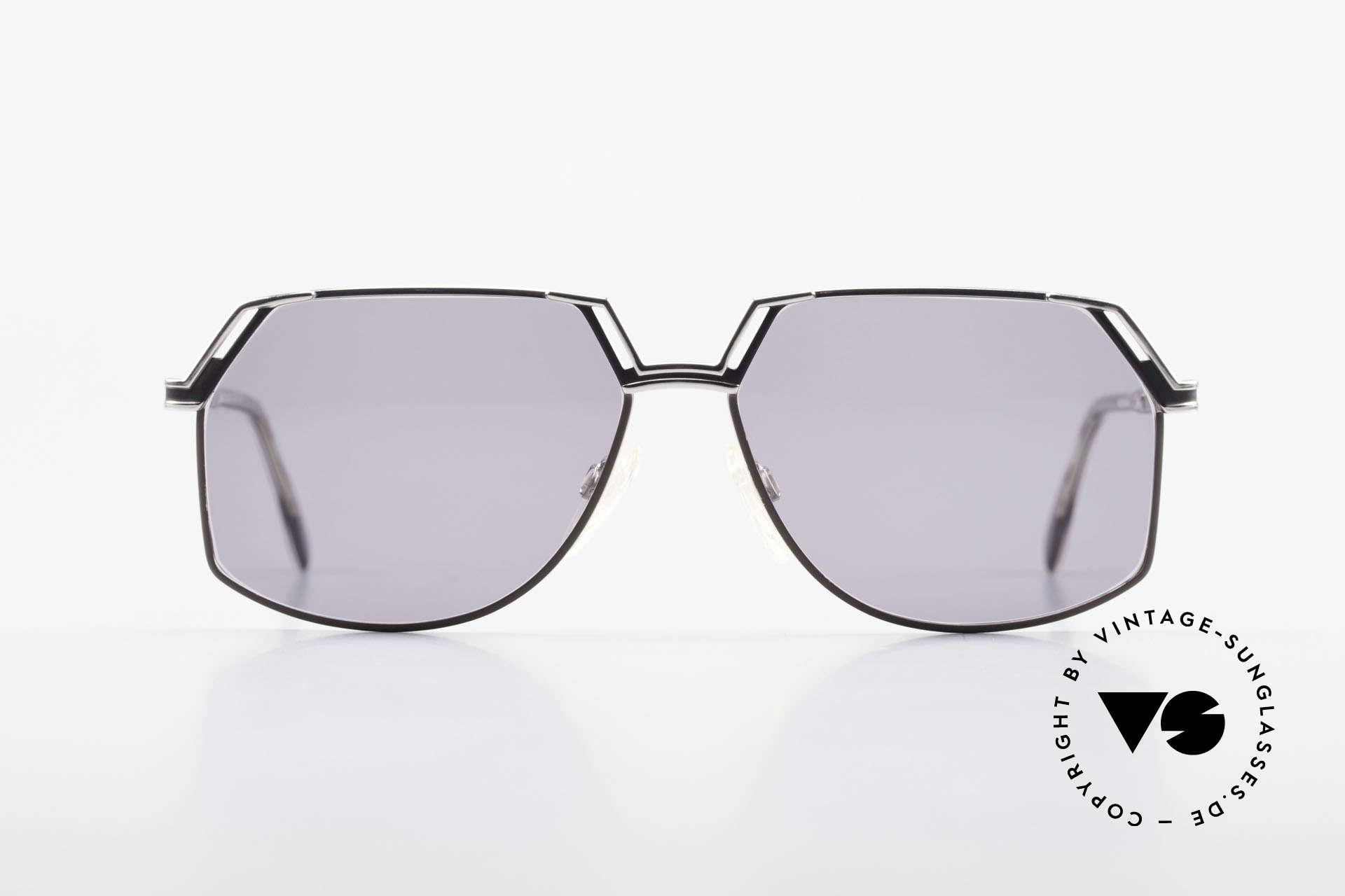 Cazal 738 True Vintage Sonnenbrille, Rahmen aus robustem Metall and mit Kunststoffbügeln, Passend für Herren