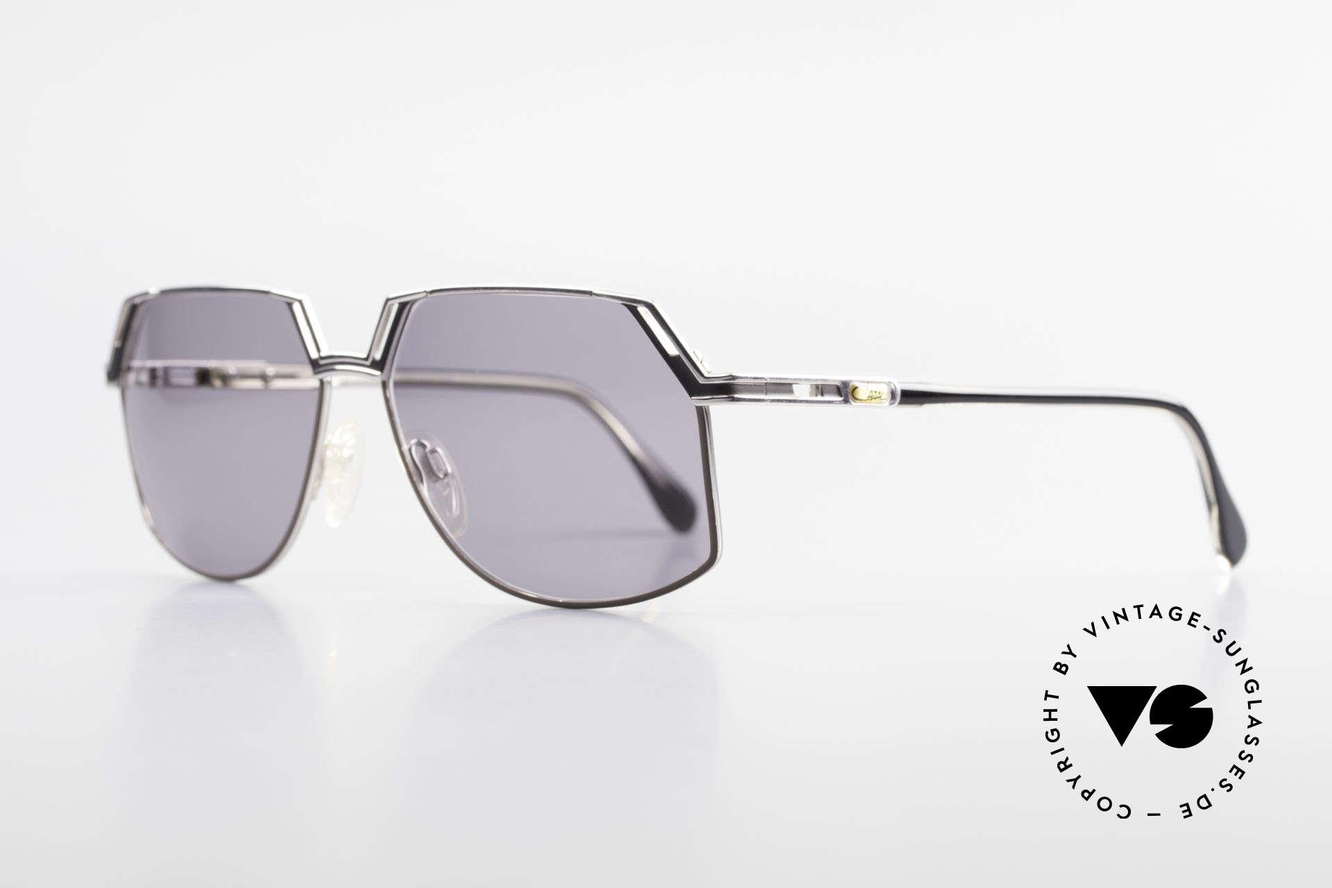 Cazal 738 True Vintage Sonnenbrille, außergewöhnliche Glasform (wirklich mal was anderes), Passend für Herren