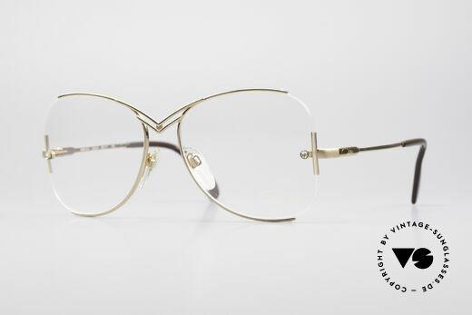 Cazal 221 Randlose 80er Designer Brille Details