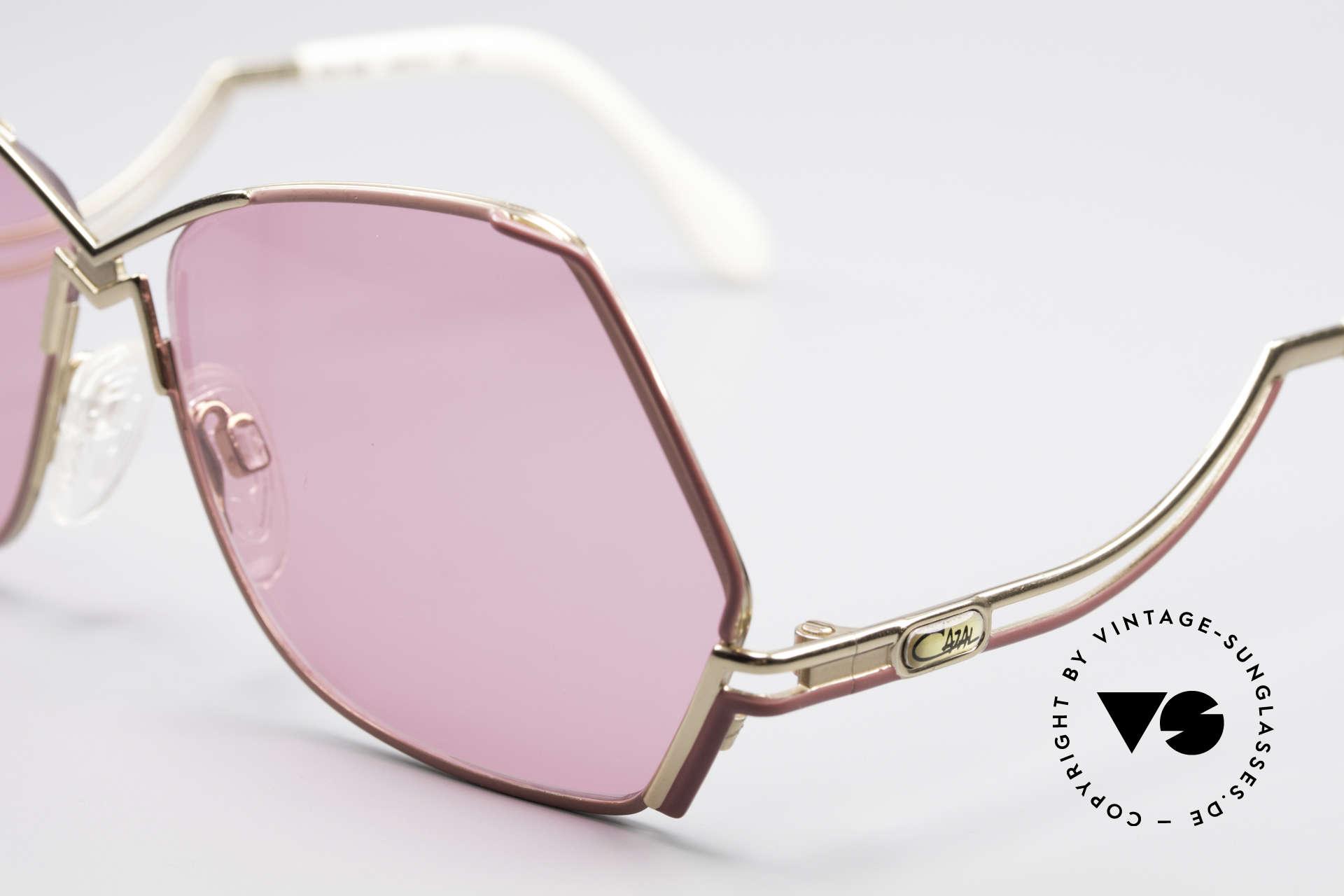Cazal 226 Pinke Sonnenbrille Damen, 80er Rahmen (W.Germany), 90er = made in Germany, Passend für Damen