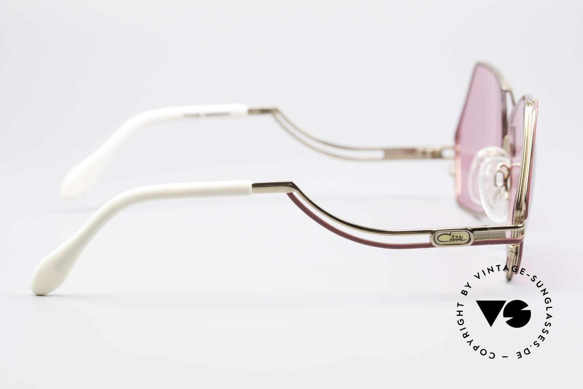 Cazal 226 Pinke Sonnenbrille Damen, KEINE Retrobrille, sondern ein einzigartiges Original!, Passend für Damen