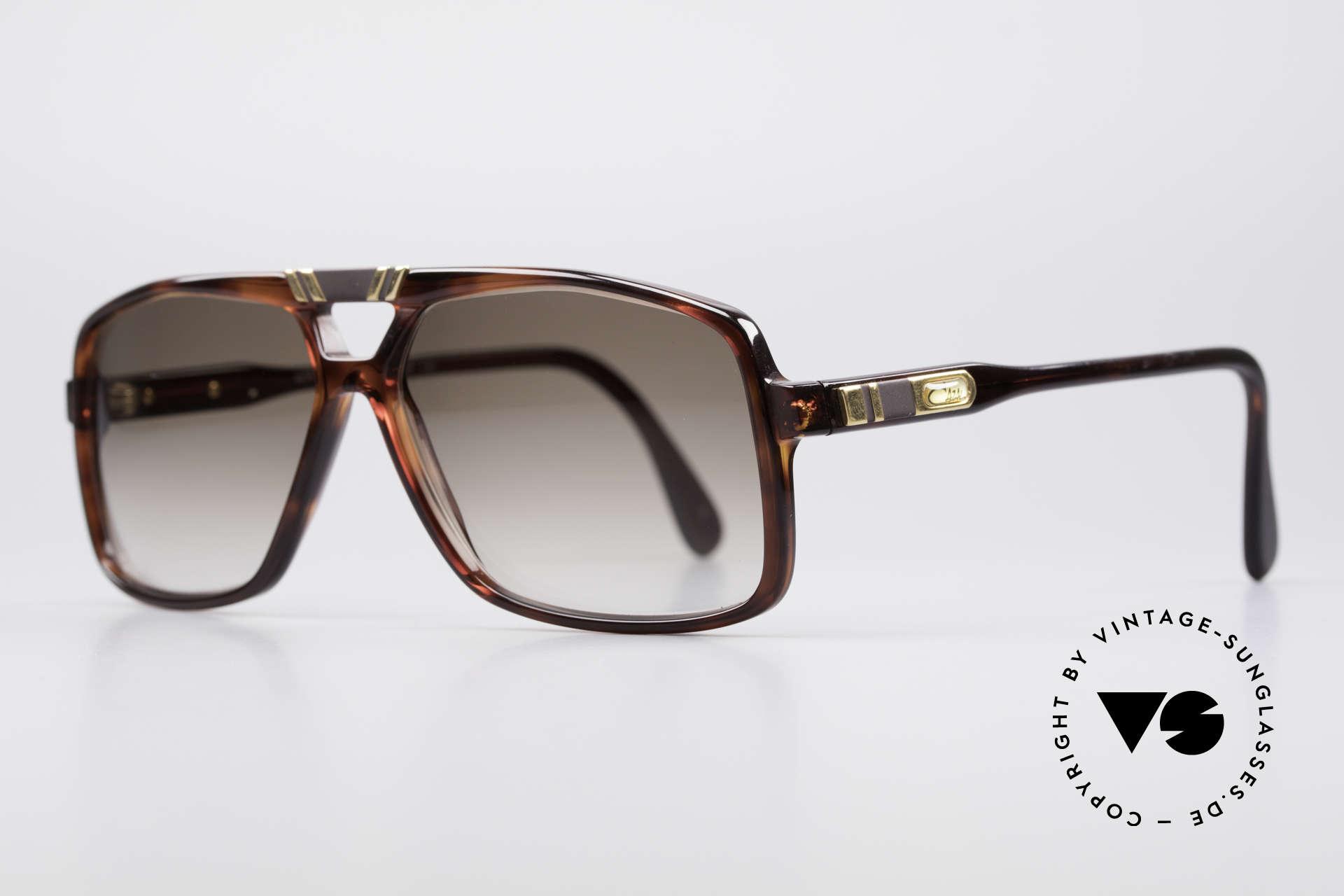 Cazal 637 1980er HipHop Sonnenbrille, fester Bestandteil der amerik. HipHop-Szene, Passend für Herren