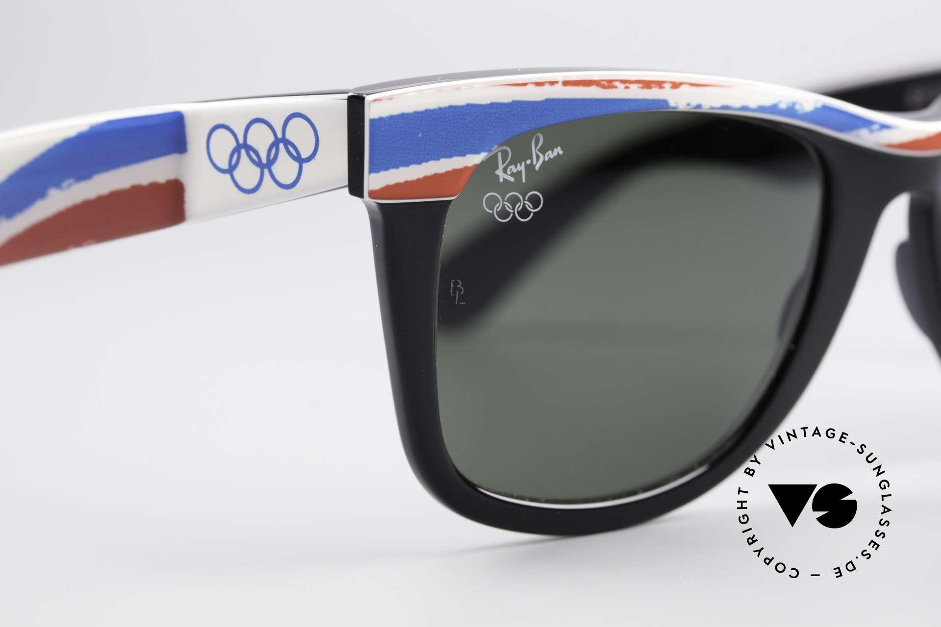 Ray Ban Wayfarer I Olympia 1992 Albertville, KEINE retro Sonnenbrille, 100% vintage ORIGINAL, Passend für Herren und Damen