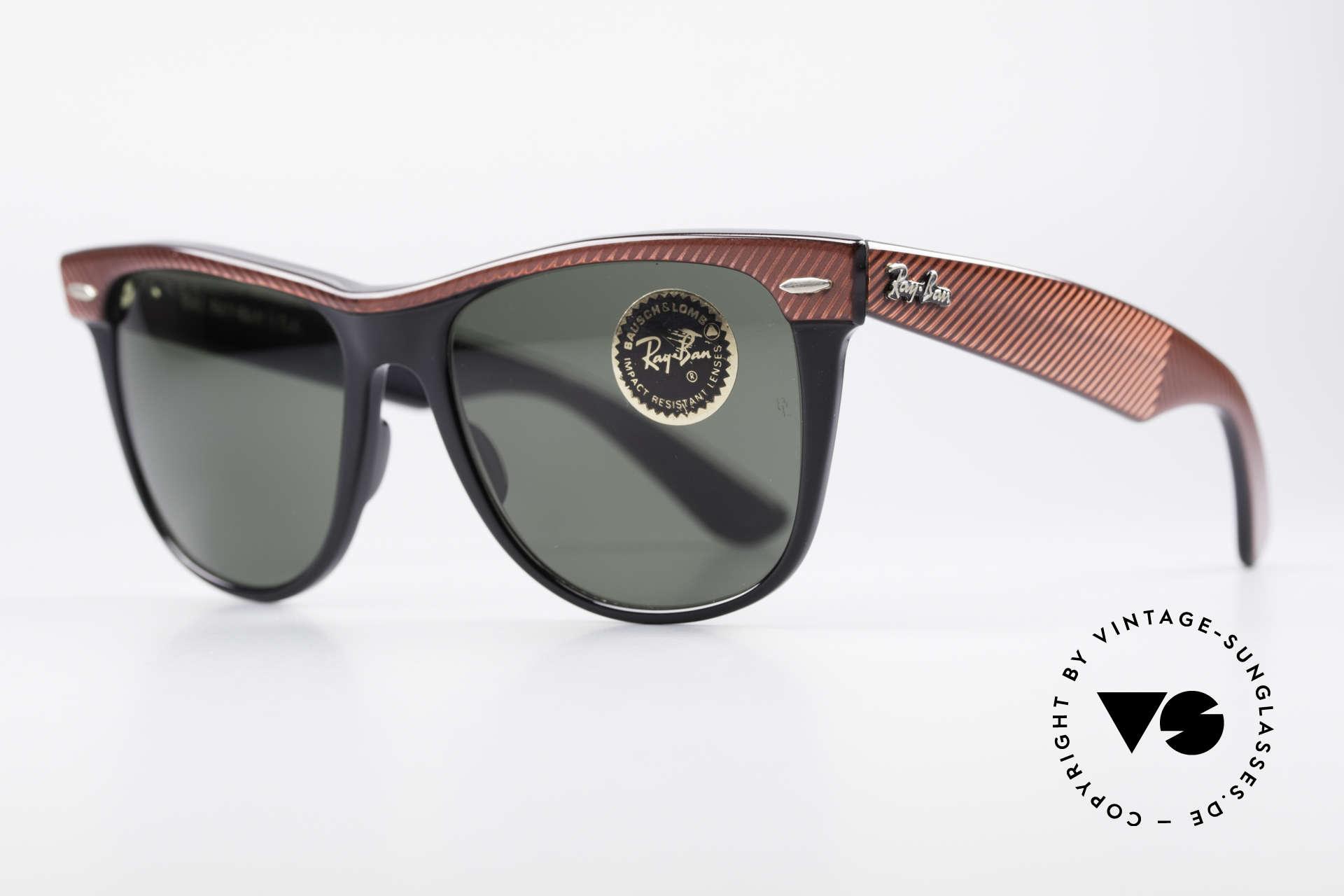 Ray Ban Wayfarer II Original USA Wayfarer B&L, berühmte Filmsonnenbrille der 80er Jahre; Kult!, Passend für Herren und Damen
