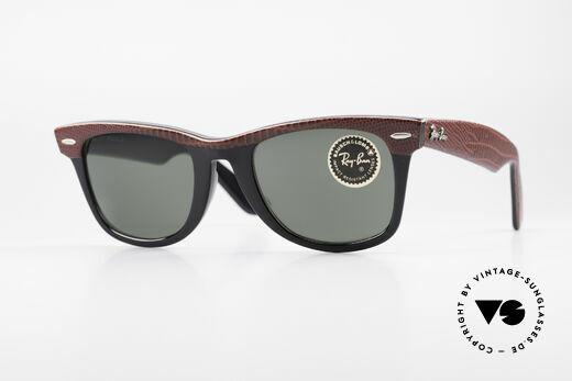Ray Ban Wayfarer I Limitierte Leder Sonnenbrille Details