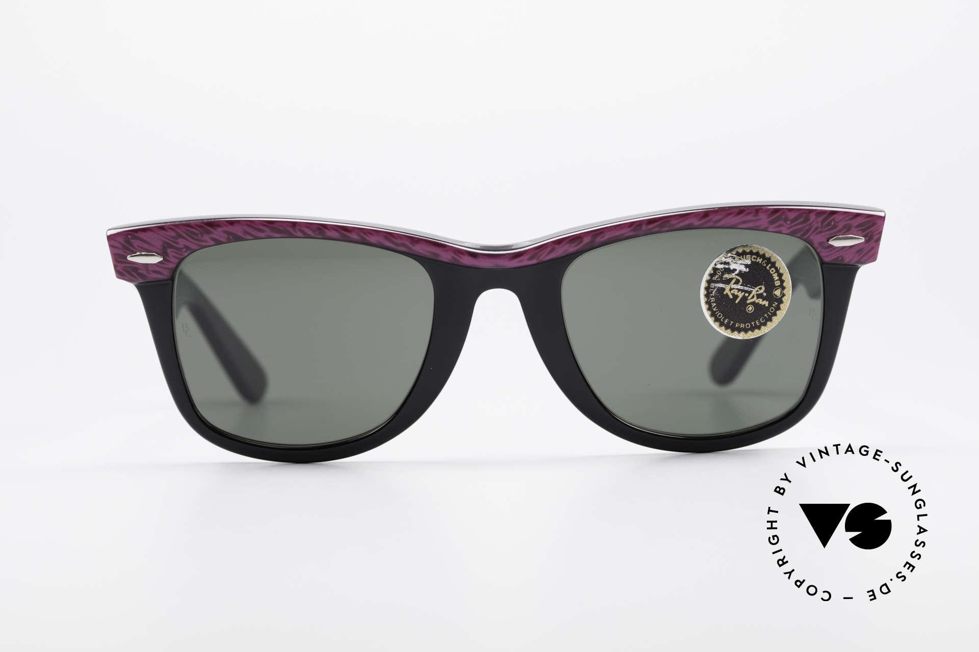 """Ray Ban Wayfarer I 80er Sonnenbrille B&L USA, u.a. getragen von Don Johnson in """"MIAMI VICE"""", Passend für Damen"""