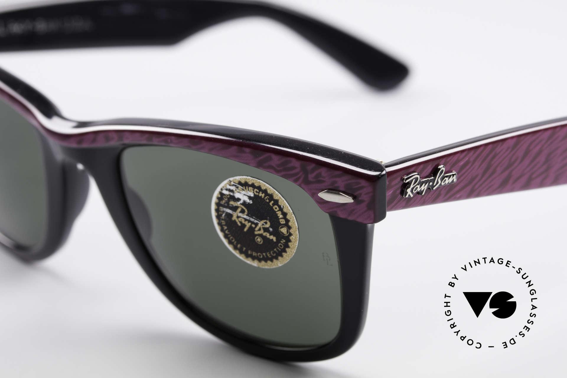 Ray Ban Wayfarer I 80er Sonnenbrille B&L USA, mit Bausch&Lomb Mineralgläsern; 100% UV Schutz, Passend für Damen