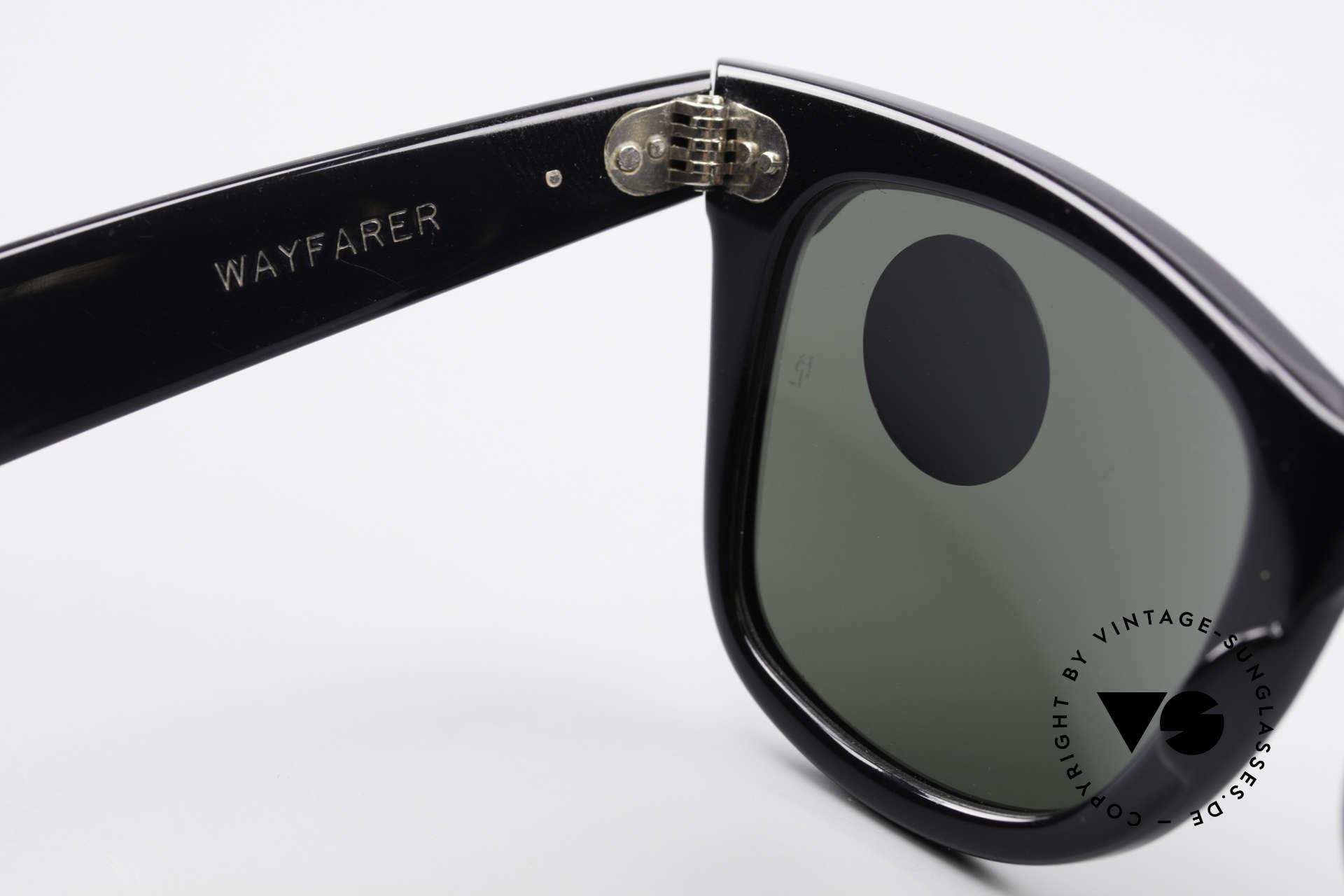 Ray Ban Wayfarer I 80er Sonnenbrille B&L USA, KEIN Retronachbau, ein altes B&L USA-ORIGINAL!, Passend für Damen