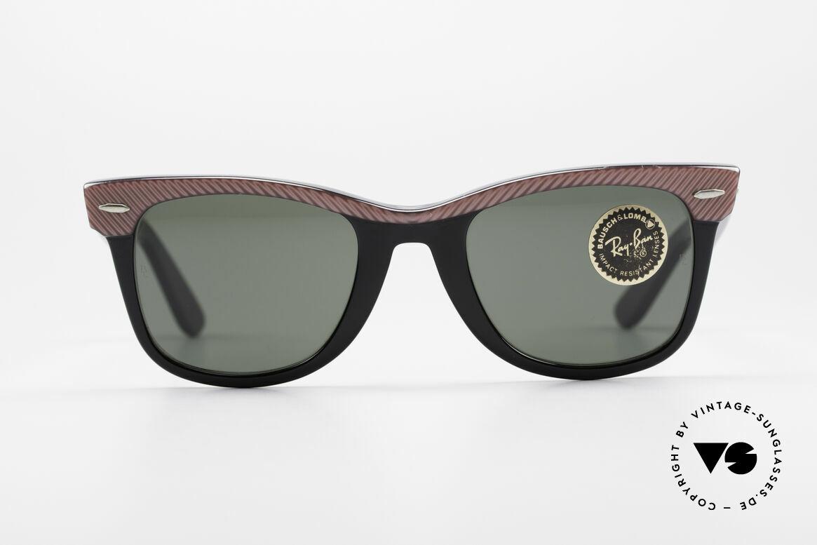Ray Ban Wayfarer I Original B&L Wayfarer USA, Bausch & Lomb Qualitätsgläser (100% UV-Schutz), Passend für Damen