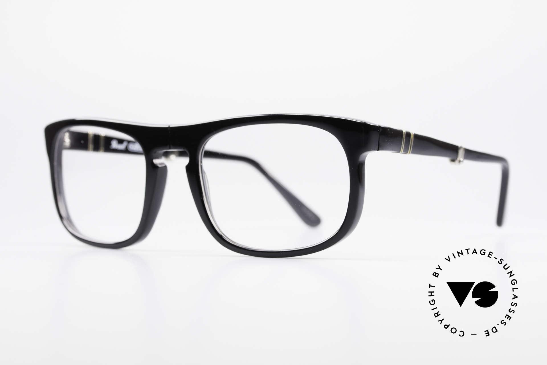 Persol Ratti 807 Folding True Vintage Faltbrille, alte Designer-Brillenfassung aus der RATTI Manufaktur, Passend für Herren