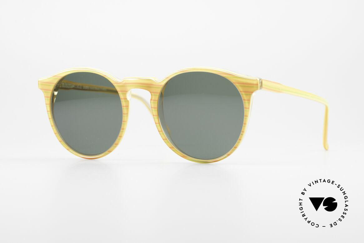 Alain Mikli 034 / 210 Designer Panto Sonnenbrille, zeitlose ALAIN MIKLI Paris Designer-Sonnenbrille, Passend für Herren und Damen
