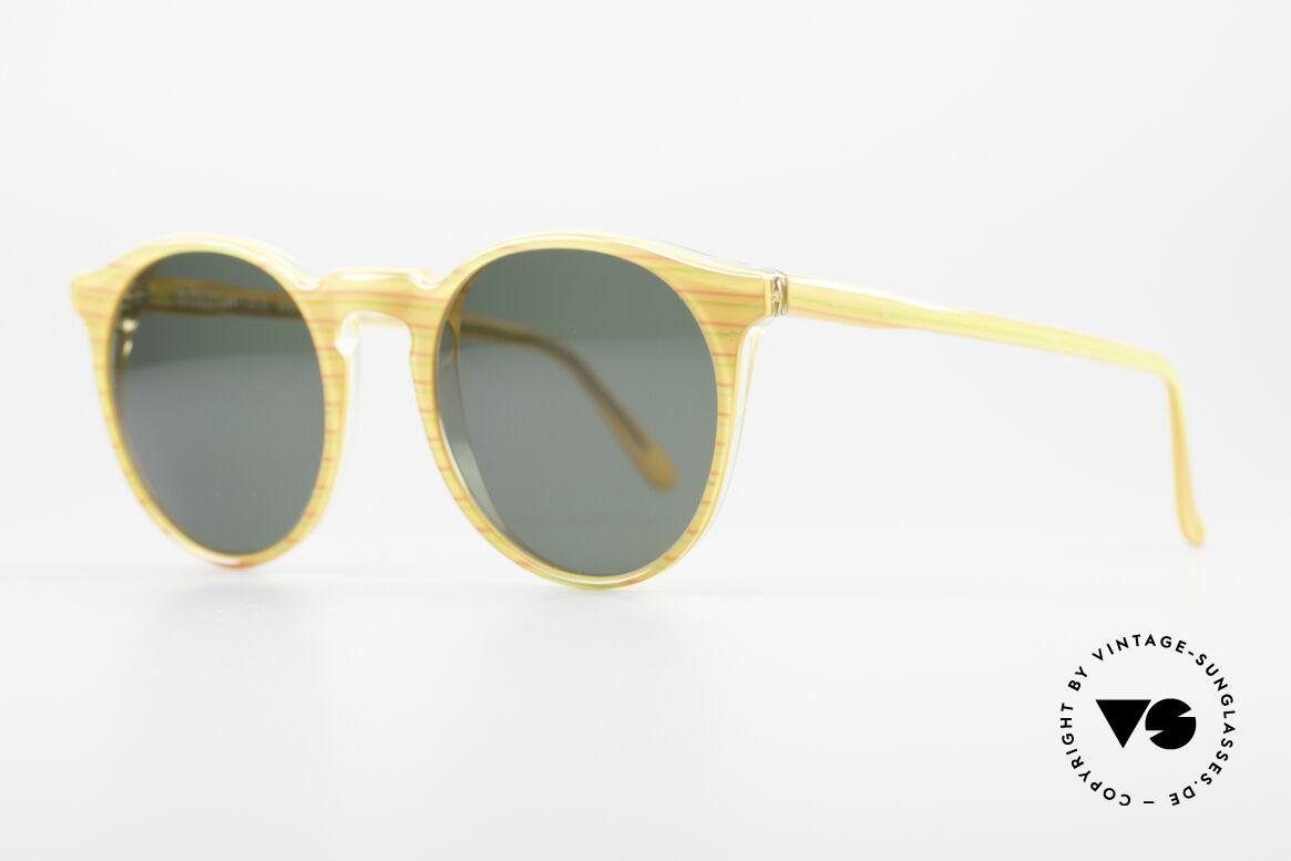 Alain Mikli 034 / 210 Designer Panto Sonnenbrille, im Stile der alten 'Tart Optical Arnel' aus den 60ern, Passend für Herren und Damen