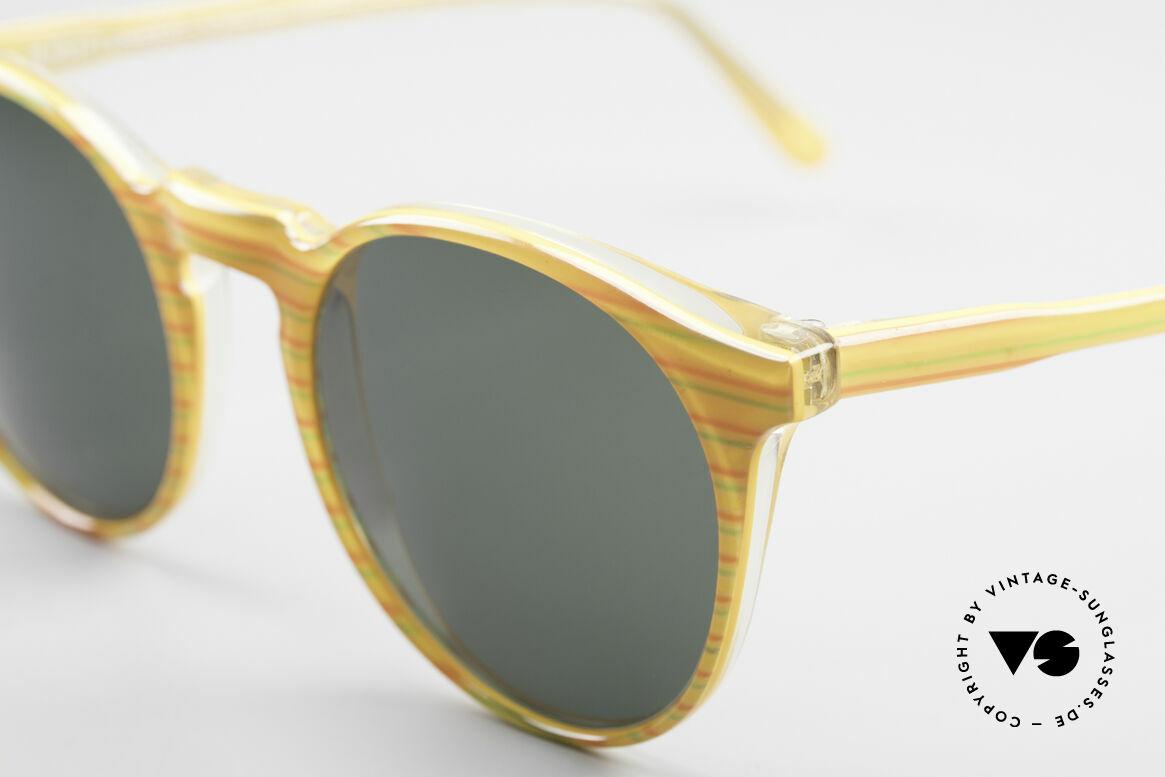 Alain Mikli 034 / 210 Designer Panto Sonnenbrille, interessantes Farbmuster und 'Handmade-Qualität', Passend für Herren und Damen