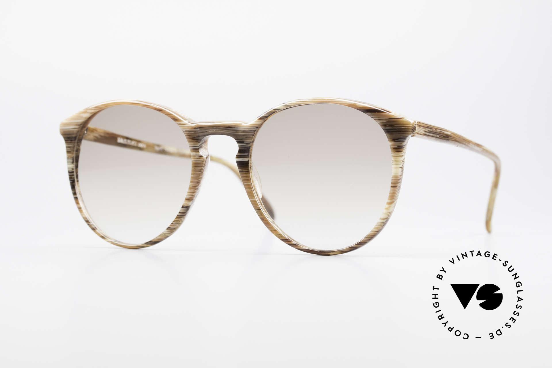 Alain Mikli 901 / 153 Horn Optik Panto Sonnenbrille, elegante ALAIN MIKLI Paris Designer-Sonnenbrille, Passend für Herren und Damen