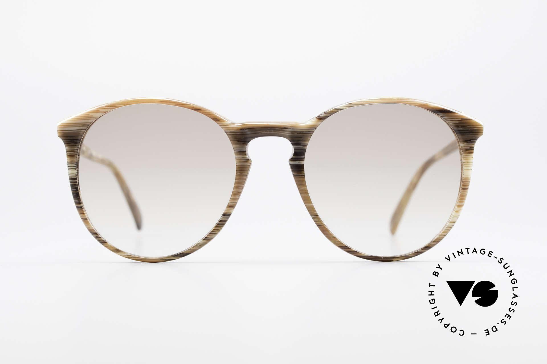 Alain Mikli 901 / 153 Horn Optik Panto Sonnenbrille, mehr 'klassisch' geht nicht (bekannte Panto-Form), Passend für Herren und Damen