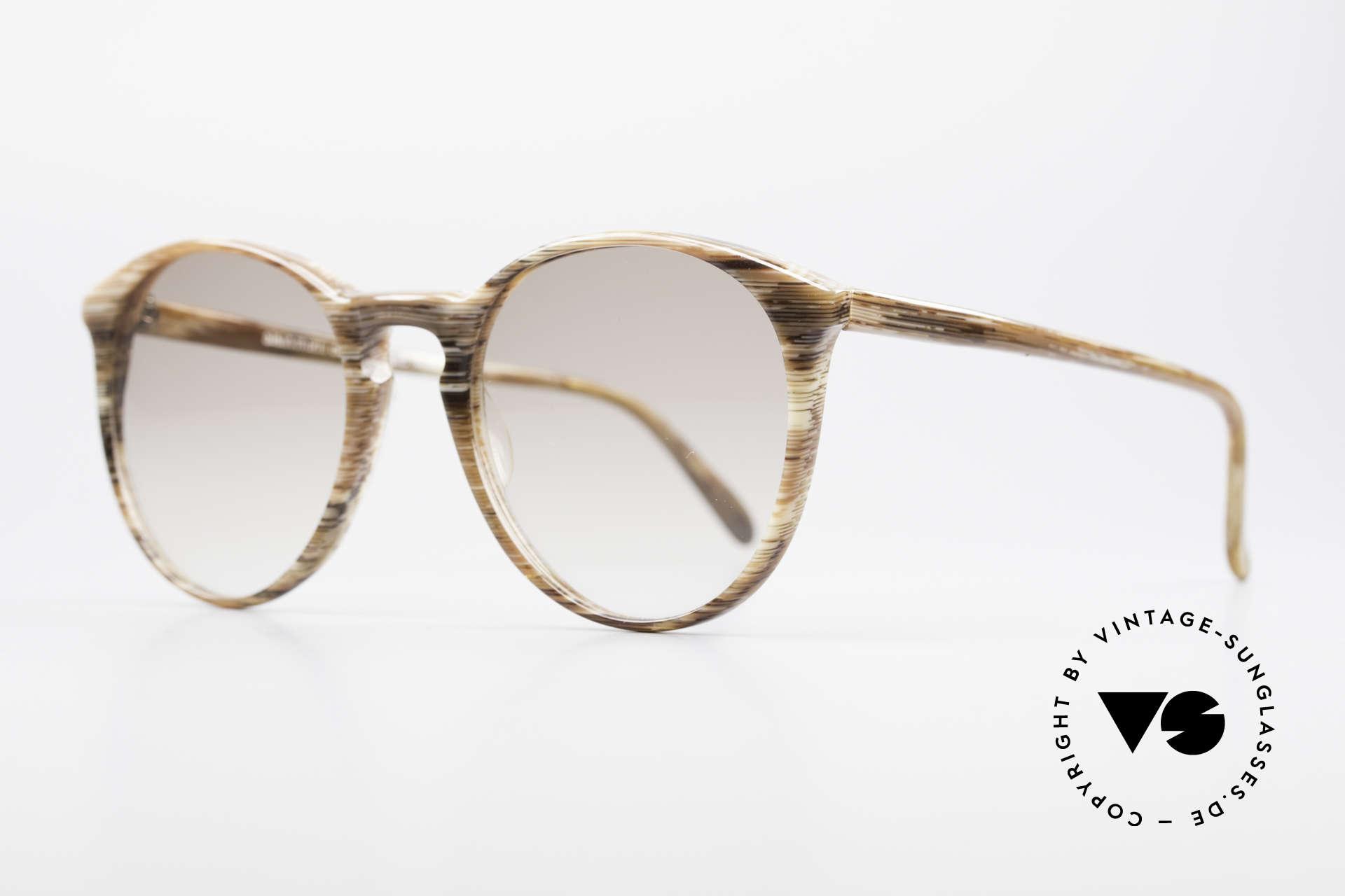 Alain Mikli 901 / 153 Horn Optik Panto Sonnenbrille, grandioses Rahmenmuster in einer Art 'Horn-Optik', Passend für Herren und Damen
