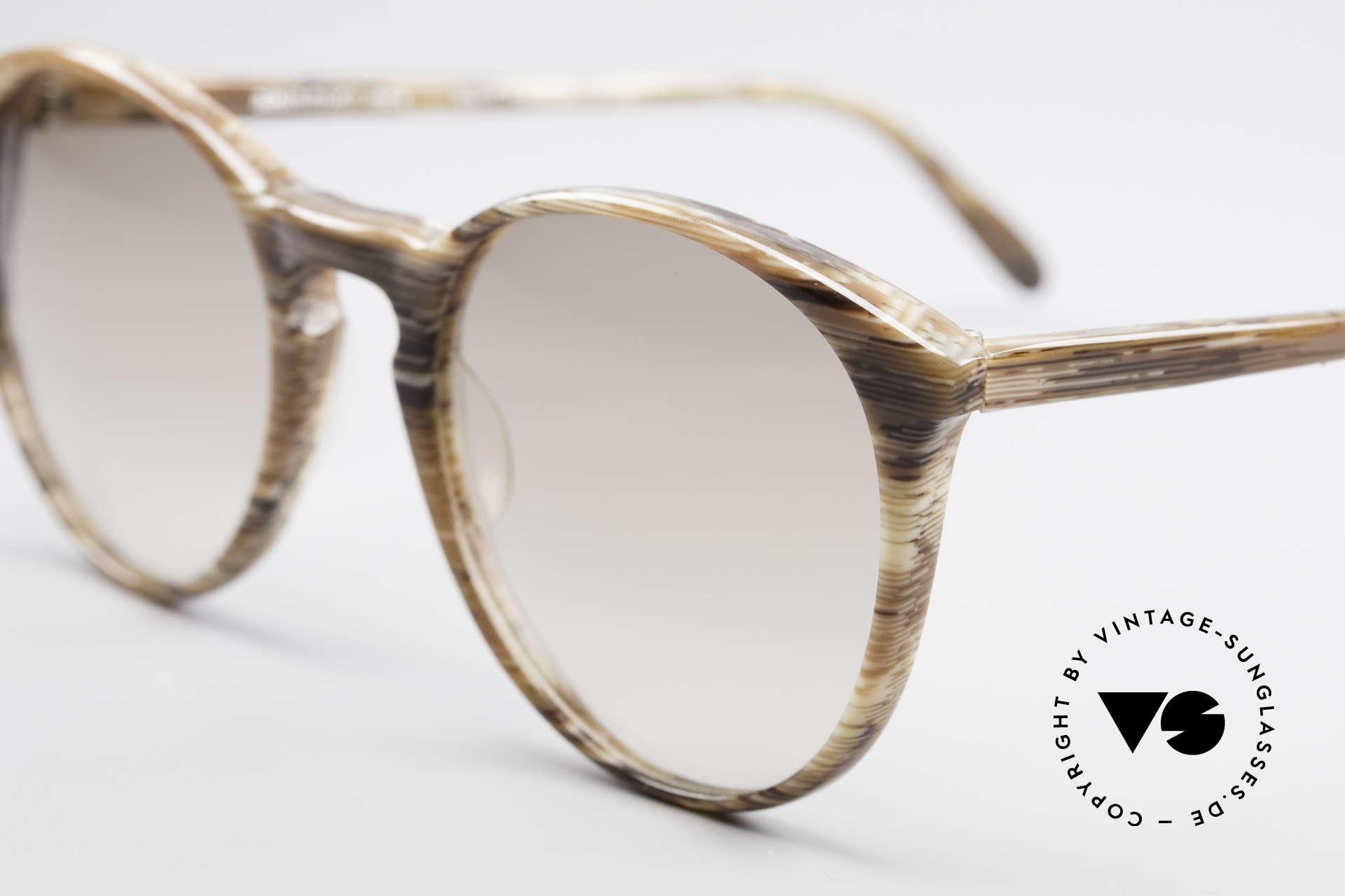Alain Mikli 901 / 153 Horn Optik Panto Sonnenbrille, hellbraune Verlaufsgläser; 123mm breit = Gr. SMALL, Passend für Herren und Damen
