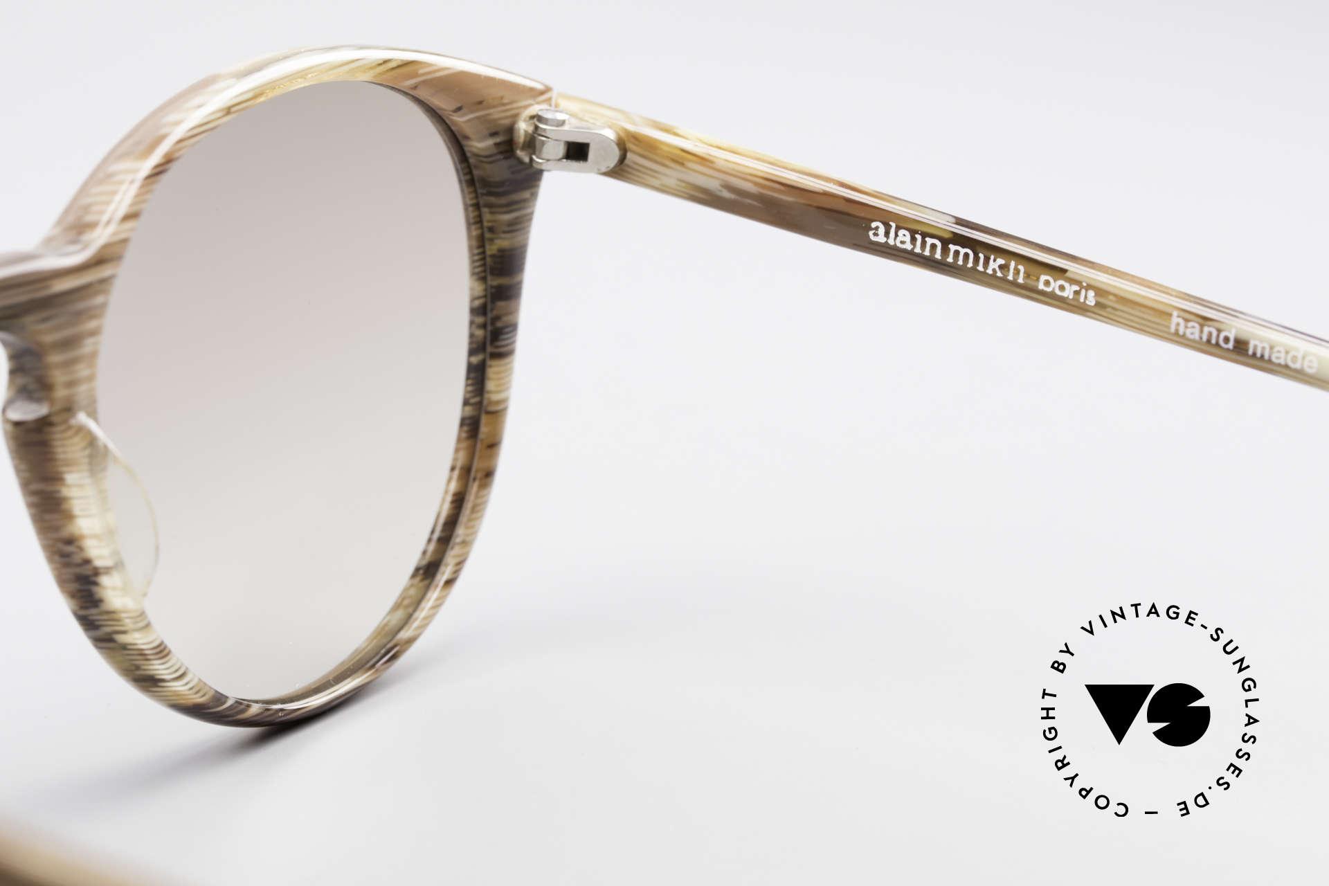 Alain Mikli 901 / 153 Horn Optik Panto Sonnenbrille, KEINE Retromode, sondern ein altes Mikli-Original, Passend für Herren und Damen