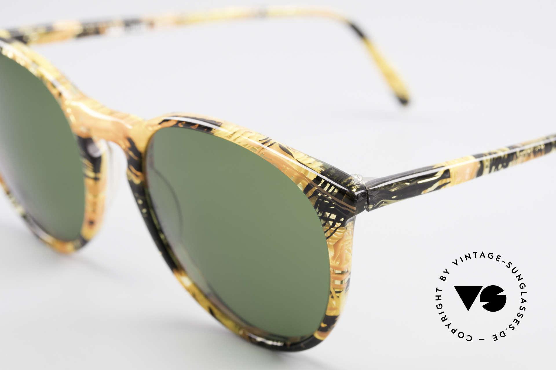 Alain Mikli 901 / 393 Bernstein Optik Panto Brille, grasgrüne Gläser (100% UV); SMALL Größe (123mm), Passend für Herren und Damen