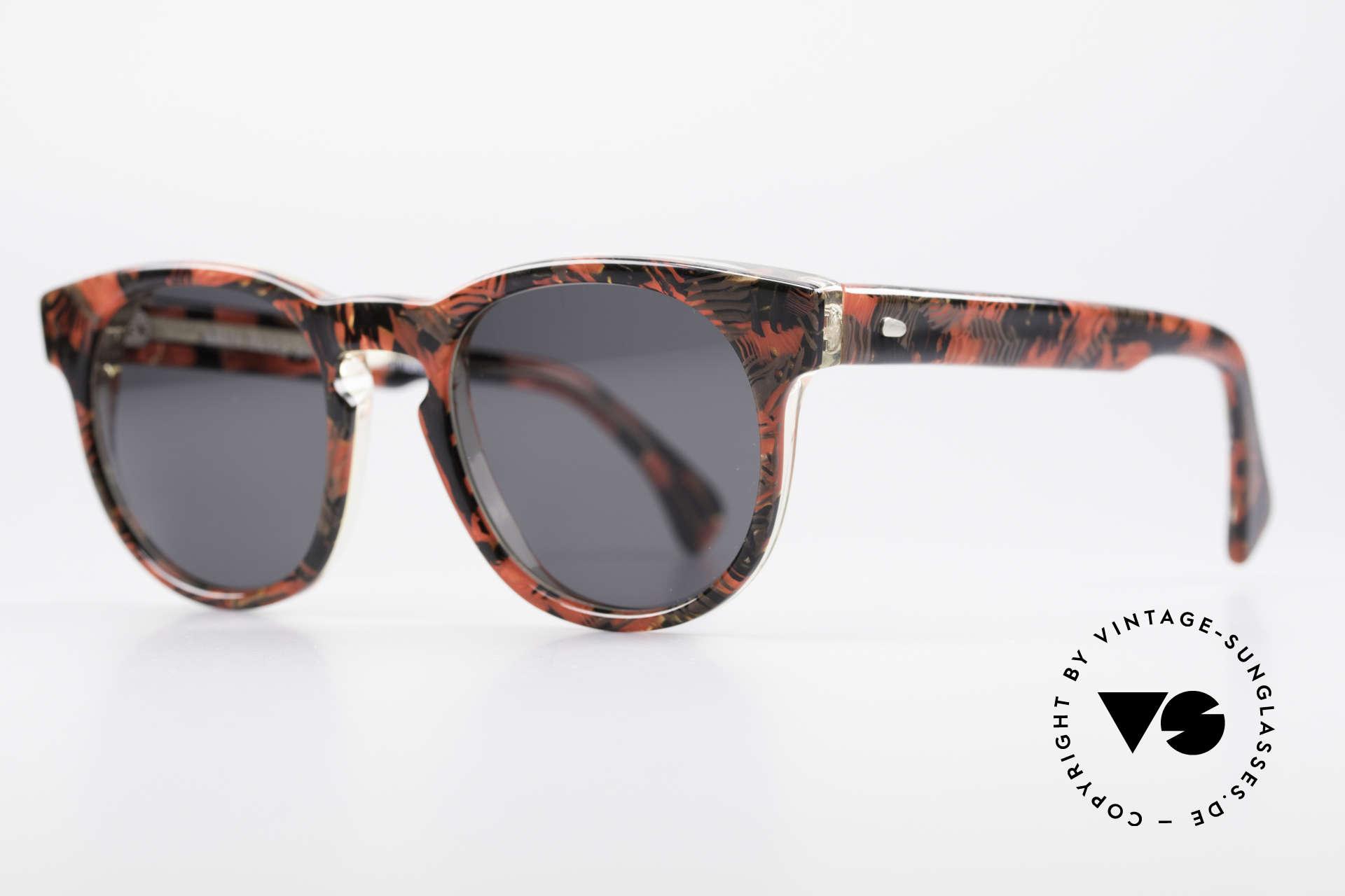 Alain Mikli 903 / 687 80er Panto Sonnenbrille Small, im Stile der alten 'Tart Optical Arnel' aus den 60ern, Passend für Herren und Damen