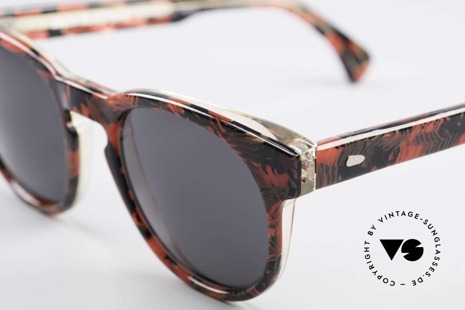 Alain Mikli 903 / 687 80er Panto Sonnenbrille Small, interessantes Farbmuster & SMALL Größe (124mm), Passend für Herren und Damen
