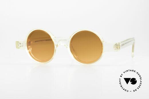 Alain Mikli 0150 / 100 Runde 80er Designer Brille Details