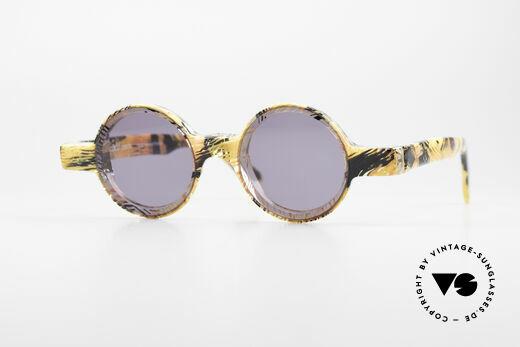 Alain Mikli 0150 / 393 Runde Designer Sonnenbrille Details