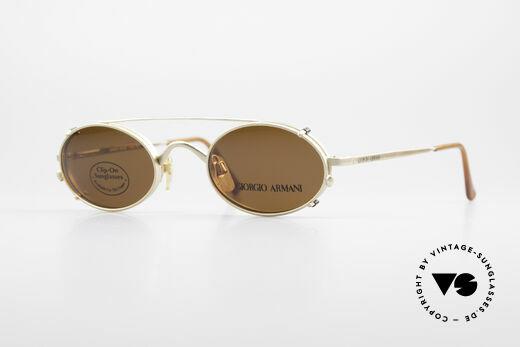 Giorgio Armani 122 Vintage Clip On Sonnenbrille Details
