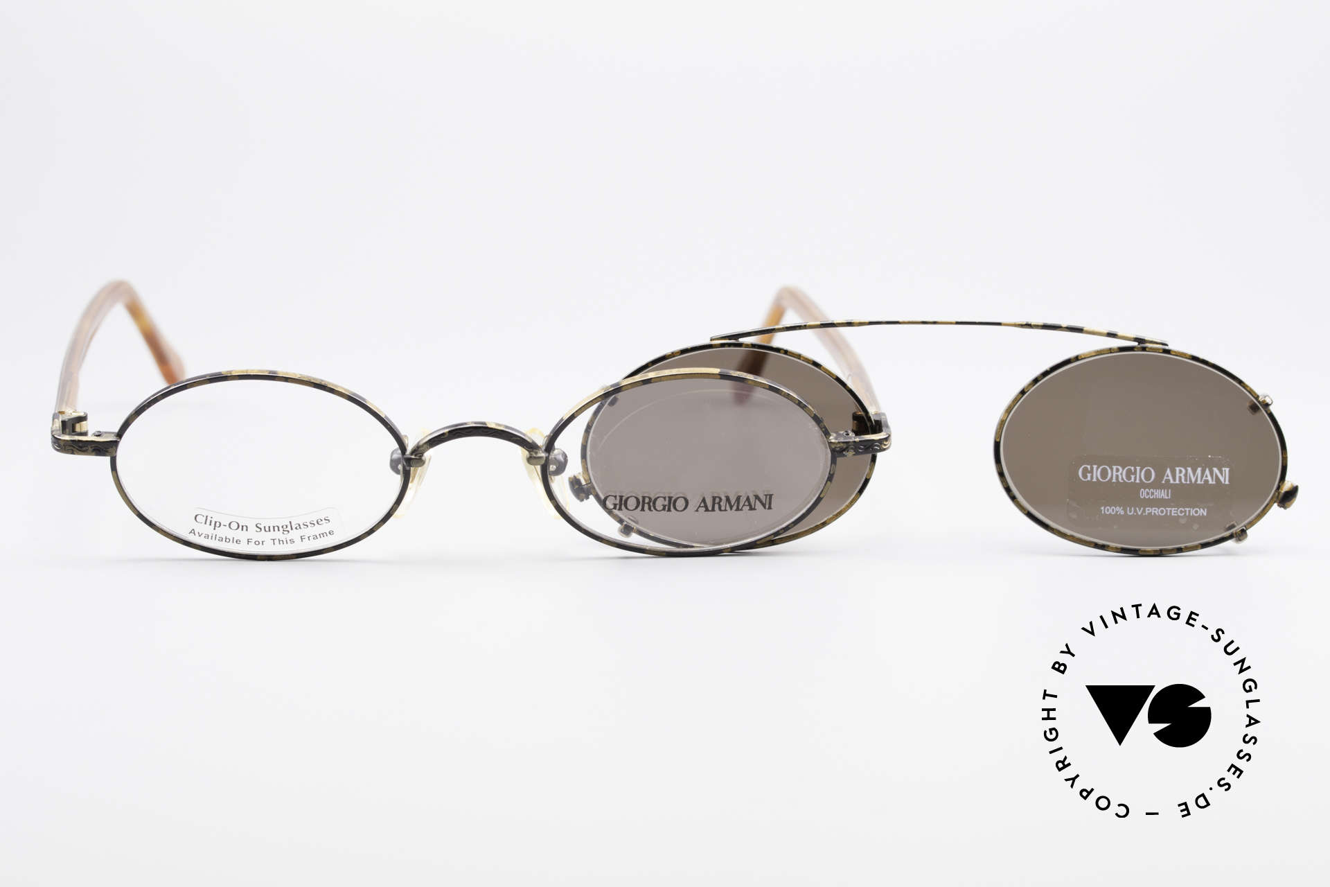 7fd77b9e67a3 Sonnenbrillen Giorgio Armani 250 Clip On Vintage Sonnenbrille ...