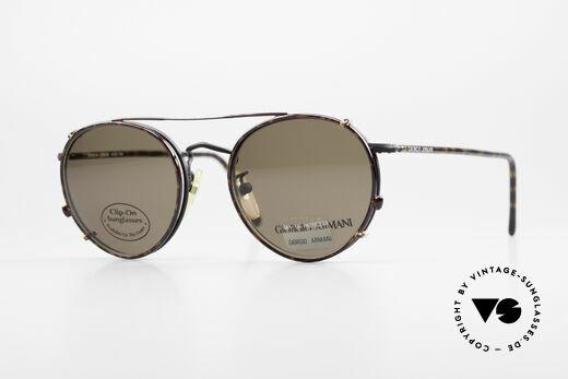 Giorgio Armani 138 Clip On Panto Vintage Brille Details