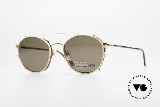 Giorgio Armani 168 Clip On 80er Vintage Brille Details