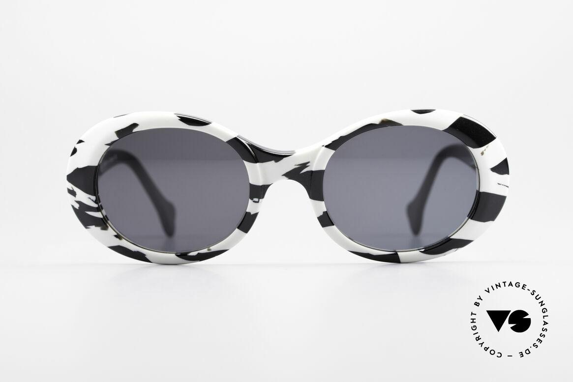 Alain Mikli D303 / 2109 101 Dalmatiner Sonnenbrille, ALAIN MIKLI 101 Dalmatiner Designer-Sonnenbrille, Passend für Damen