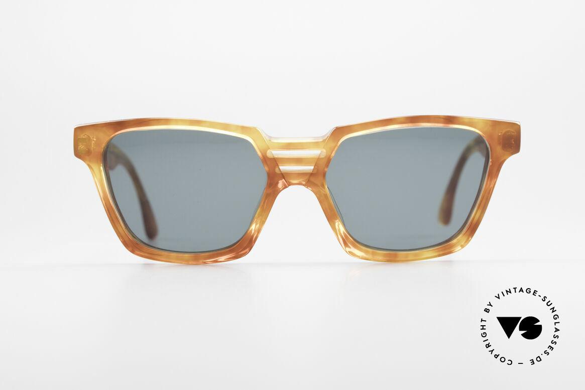Alain Mikli 0145 / 033 Markante 80er Sonnenbrille, vintage Alain Mikli Designer-Sonnenbrille von 1988, Passend für Herren und Damen