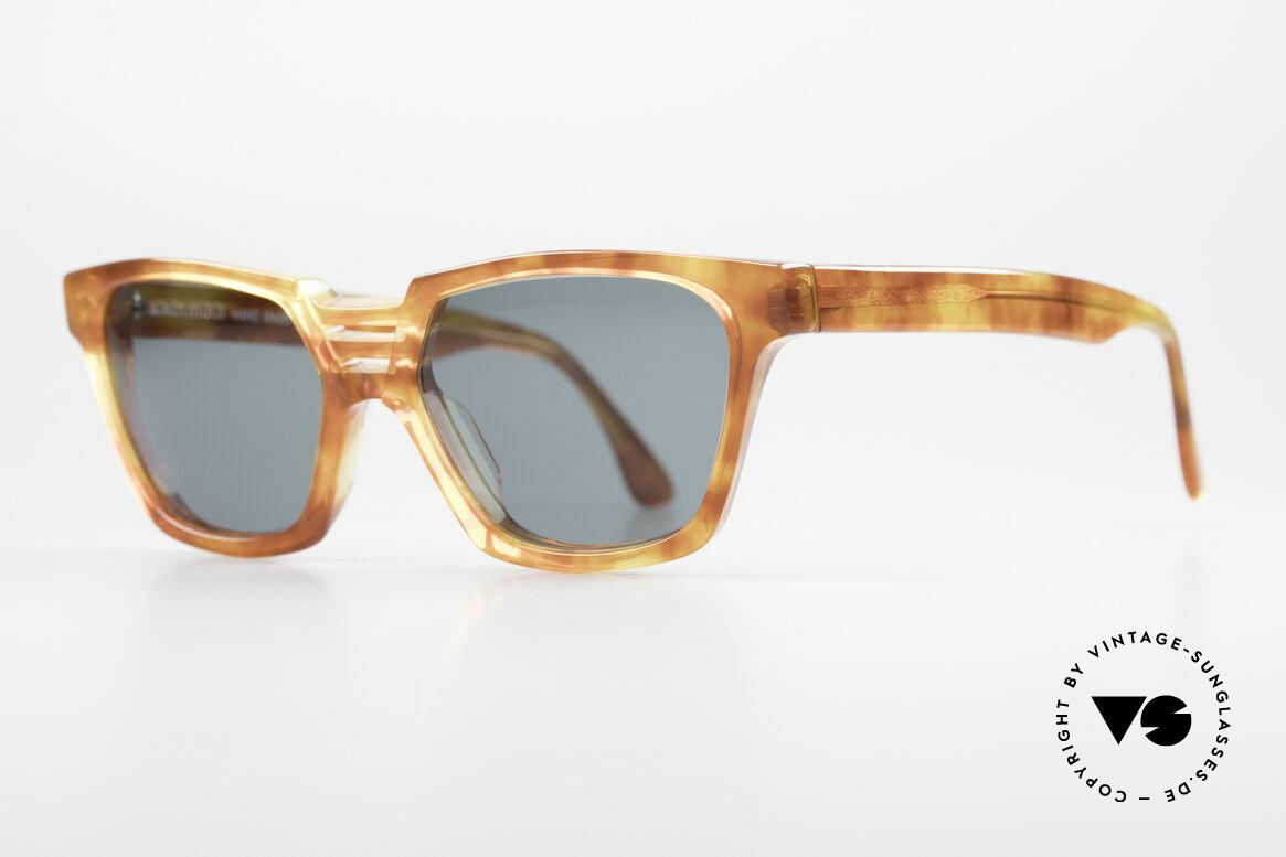 Alain Mikli 0145 / 033 Markante 80er Sonnenbrille, Top-Qualität (handmade in France), 100% UV Schutz, Passend für Herren und Damen