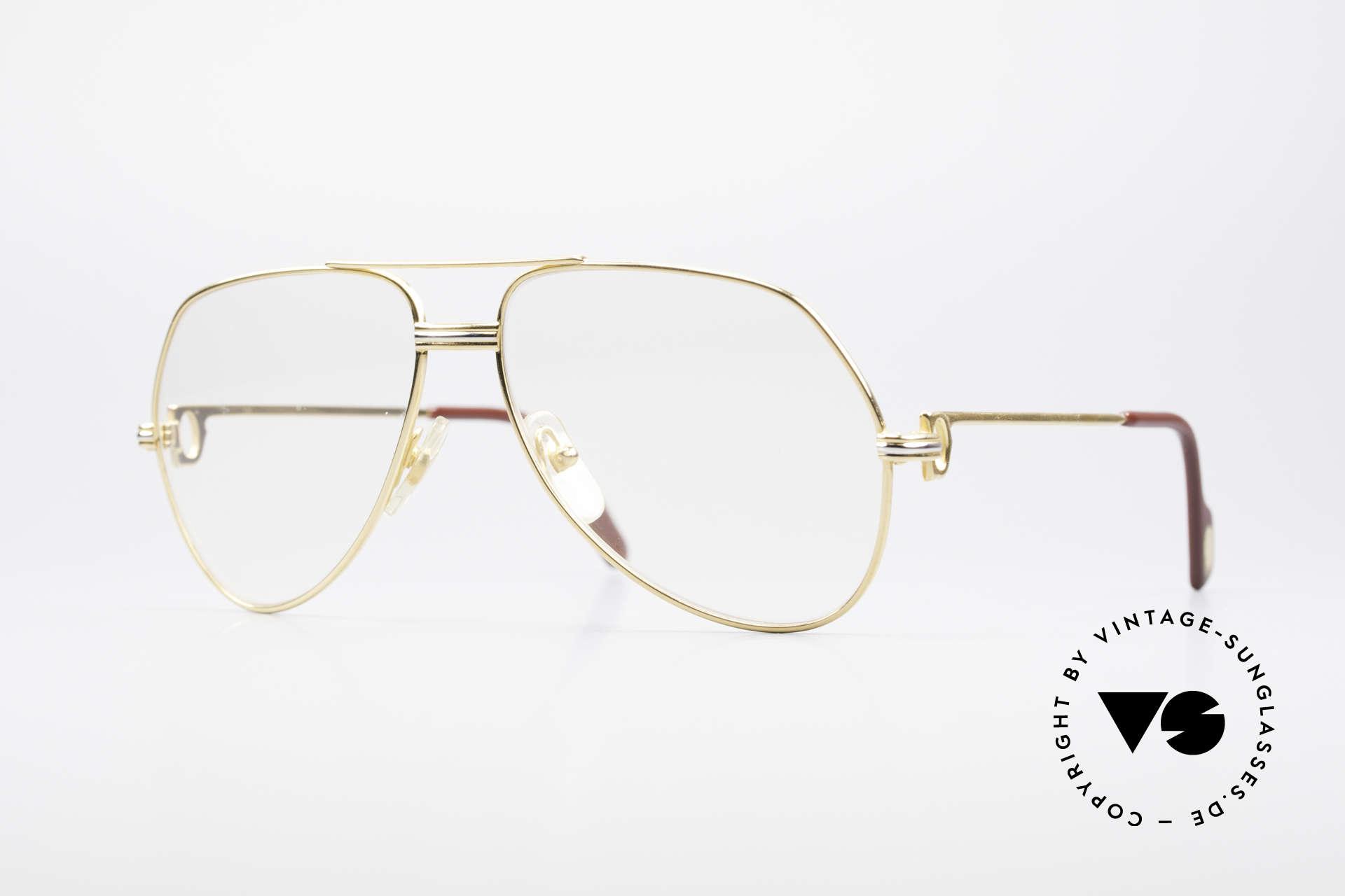 Cartier Vendome LC - M Hauchzeichen Cartier Gläser, Vendome = das berühmteste Brillendesign von CARTIER, Passend für Herren und Damen