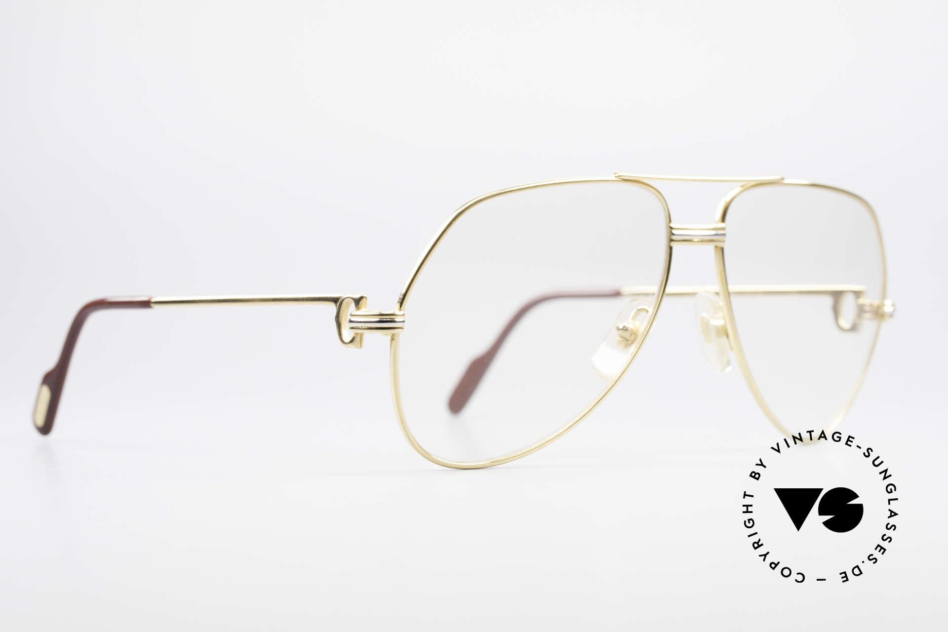 Cartier Vendome LC - M Hauchzeichen Cartier Gläser, dieses Modell mit L.C.-Dekor in MEDIUM Gr. 59-14, 130, Passend für Herren und Damen